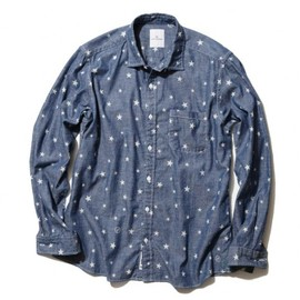 uniform experiment - COTTON CHAMBRAY STAR PATTERN SHIRT