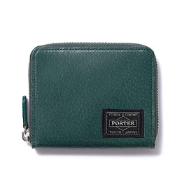 "HEAD PORTER - ""BAILIO"" WALLET (M) GREEN"
