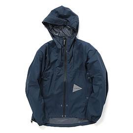 and wander - light rain jacket / navy