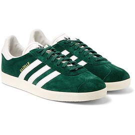 Adidas Originals - Gazelle OG Leather-Trimmed Suede Sneakers