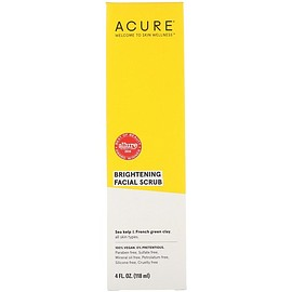 Acure - Brightening Facial Scrub, 4 fl oz (118 ml)