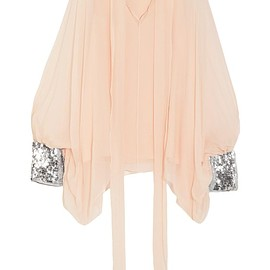 Chloé - Sequin-embellished silk-mousseline blouse