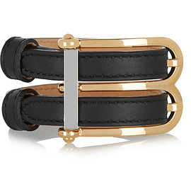 BALENCIAGA - B leather bracelet