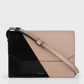 Paul Smith - Two-Tone Taupe Leather Shoulder Bag
