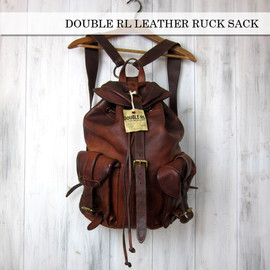 DOUBLE RL - LEATHER RUCK SACK