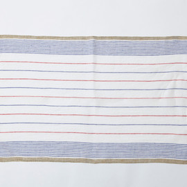 MARGARET HOWELL - STRIPE TEA TOWEL BLUE