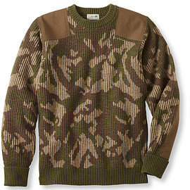 L.L.Bean - Commando Sweater, Camouflage Crewneck