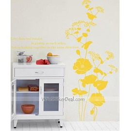 wallstickerdeal.com - Feast Banquet Flower Wall Sticekrs