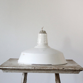 86home - SALE 1930s Industrial Light / White Warehouse Lamp