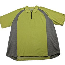 Eddie Bauer - Eddie Bauer 1/2 Zip Polo Shirt Green/Gray Mens Size XLT