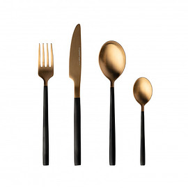 BergHOFF - 4-pc flatware set black and gold - Gem