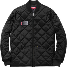 Supreme - Quilted Work Jacket - Black