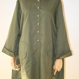 Women Loose Fitting shirt, army green shirt, Cotton Blouse for Women