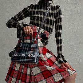 Balenciaga - Balenciaga Ville S Check Leather Bag