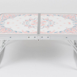 Coleman, BEAMS - 【WHITE&NAVY BANDANNA】Folding Mini Table Set