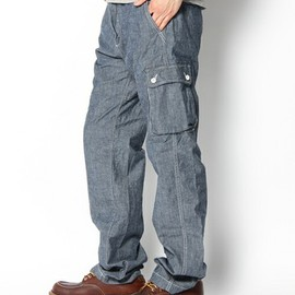green label relaxing - CHAMBRAY WORK 6POCKETS PANTS