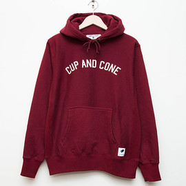cup and cone - Arch Logo Hoodie - Burgundy