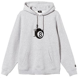 STUSSY - 8 BALL MAN EMBROIDERED HOODIE