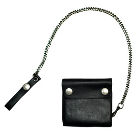 RRL - RRL  BLACK LEATHER CHAINE WALLET
