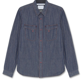 White Mountaineering - Denim w-pocket shirt:WM1371114-94