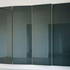 Gerhard Richter - Grey Mirror 1992  4 parts, each 300 cm x 100 cm  Catalogue Raisonné: 766 Colour-coated glass