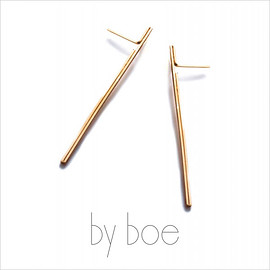by boe, byboe, バイボー - Linear Earrings リニアピアス