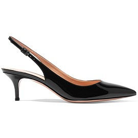 Gianvito Rossi - Patent-leather slingback pumps
