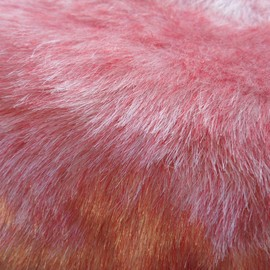 Luulla - Faux Fur Red and White - fake craft fur 10 x 18 inches