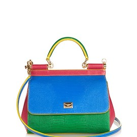 DOLCE&GABBANA - Medium Sicily colour-block leather cross-body bag
