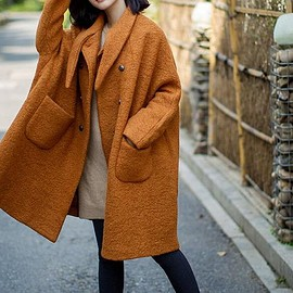 Wool Coat - Winter Coat, Wool Coat for Women, Double breasted Wool long Coat