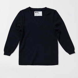 MHL. - ST JAMES WOOL V-NECK SWEATER