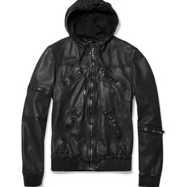 DOLCE&GABBANA - Hooded Leather Jacket