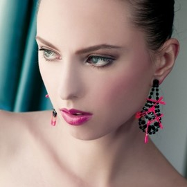 Tom Binns - Pink Pin Earrings