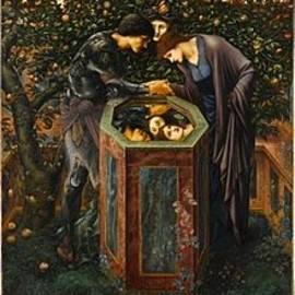 Edward Burne-Jones - The Baleful Head (1887) with the theme of the reflected gaze