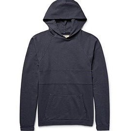 Mollusk - Panelled Loopback Cotton-Jersey Hoodie
