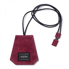 "HEAD PORTER - ""MALMO"" NECK KEY CASE BURGUNDY"