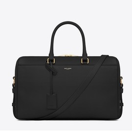SAINT LAURENT - Leather Classic Duffle 12 Bag Black