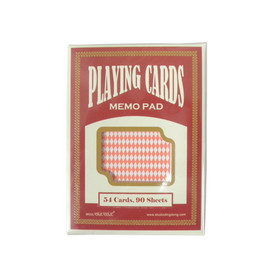 PLAYING CARDS - MEMO TRUMP RED