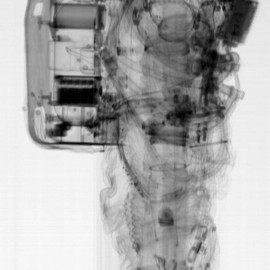chloesnowjewellery:NASA A7L spacesuit pre-flight CT scan