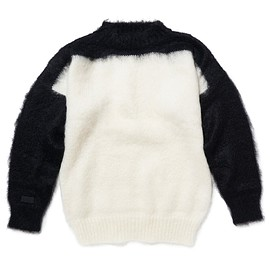 PEEL&LIFT - mohair jumper / BLACK-WHITE
