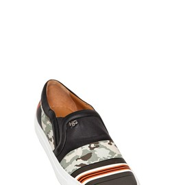 GIVENCHY - CAMOUFLAGE LEATHER SNEAKERS