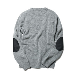 SOPHNET. - ELBOW PATCH CREW NECK KNIT