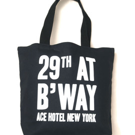 ACE HOTEL - ACE HOTEL NEW YORK TOTE - BLACK
