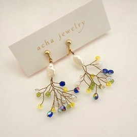 acha - branche pearl yellow&blue