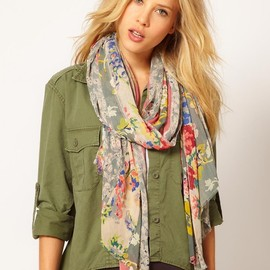 RALPH LAUREN Denim & Supply - Floral Patchwork Scarf