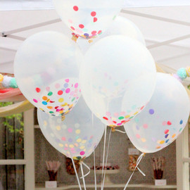 BonFortune - Clear Confetti Balloon Bouquet Set