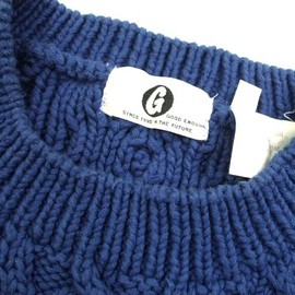 GOODENOUGH - Fisherman Knit Sweater (indigo)