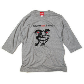 "MILLION RACE - H/S TEE ""Why Can't Weed Be Friends?""(Gray)"