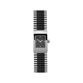 LINKS of LONDON - Friendship Bracelet Sterling Silver & Black Cord Rectangular Watch