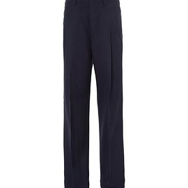Lanvin - Wide-Leg Pleated Wool Trousers